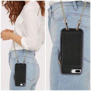 Crossbody Leather Case & Wallet iPhone 8plus 7plus